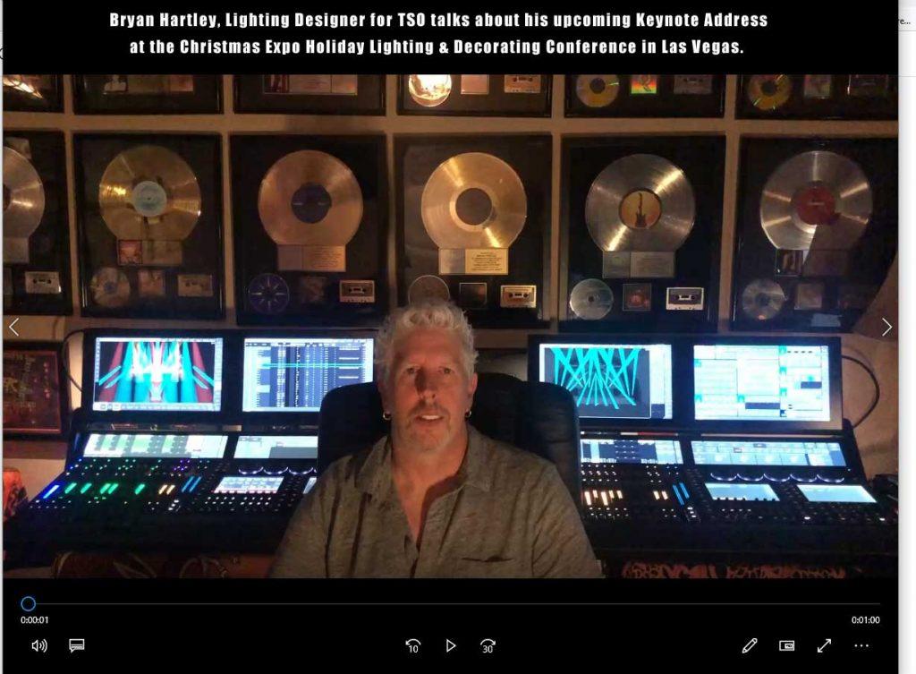 Brian Hartley, Lighting Designer for TSO, talks about Christmas Expo