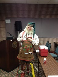 Santa Claus visits Christmas Expo