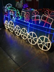 Lighted displays at Christmas Expo