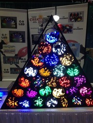 LED lights in many colors at Christmas Expo